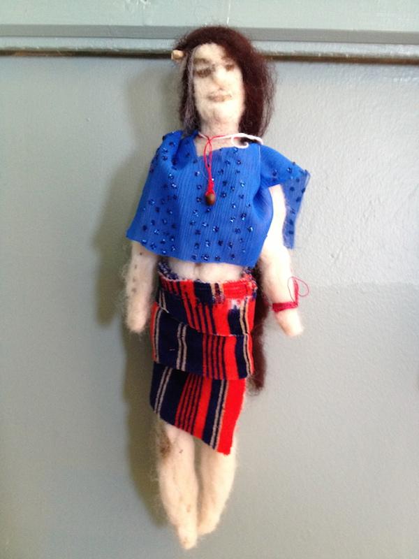 Crone Spirit Doll Needle Felted, found materials