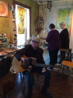 The other Poet Laureate and musician, Larry Jensen in Keira's Studio