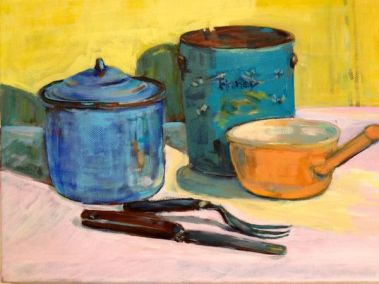 Study in blue and yellow (sold)