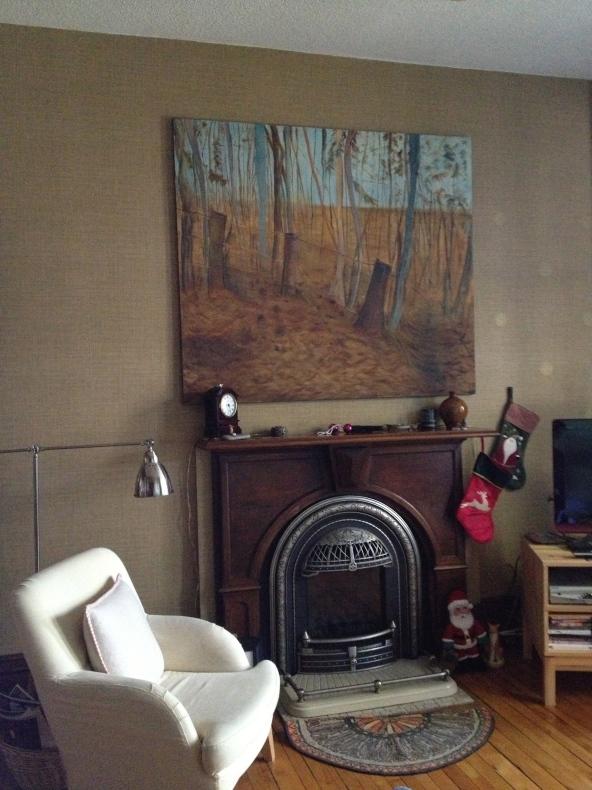 Landscape, oil on canvas (older work)