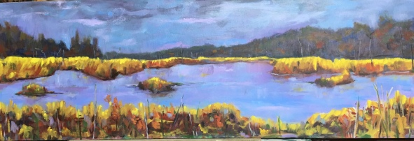 "One of those evenings -oil- 12x36"". $450"