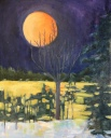 "Full moon - oil - 20x16"" $375"