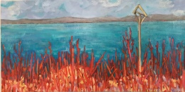"Hart rouge - oil - 12x24"" $300"